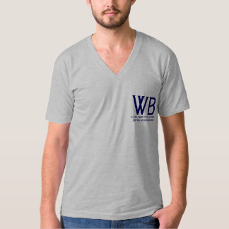 Writers Bloc Men's V-Neck Tee Shirt