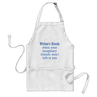 Writers Block: Adult Apron
