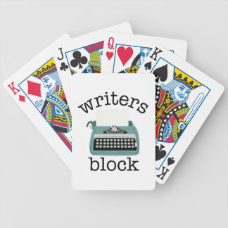 Writers Block Bicycle Playing Cards