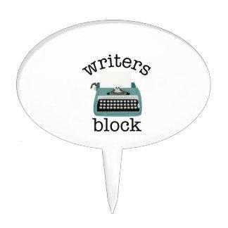 Writers Block Cake Topper