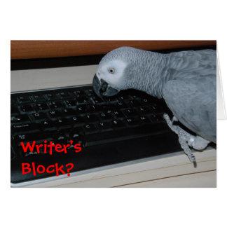 Writer's Block Card
