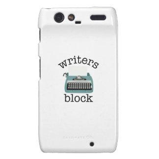 Writers Block Motorola Droid RAZR Cases
