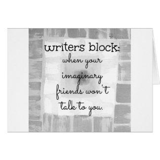 Writers Block Greeting Card