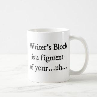 Writer's block coffee mug