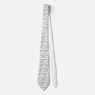Writer's block neck tie