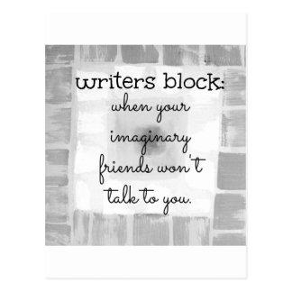 Writers Block Post Card