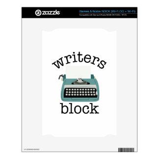 Writers Block Skin For NOOK