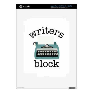 Writers Block Skin For iPad 3