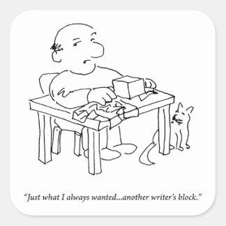 Writer's Block Sticker