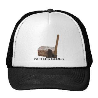 Writers block trucker hat
