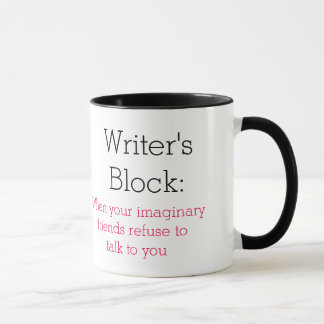 Writer's Block: when your imaginary friends Mug
