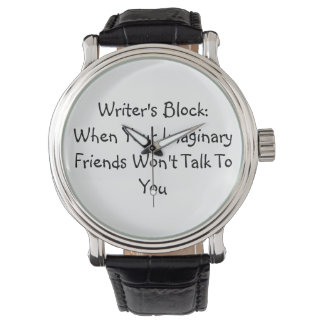 Writer's Block Wrist Watch