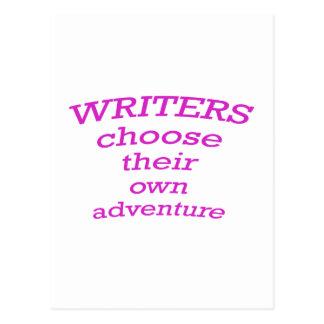 Writers Choose their own Adventure Postcard