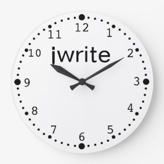 Writers Clock Funny iwrite Your Color Custom