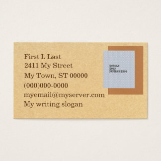 Writer's conference business card
