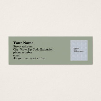 Writer's Conference Business Contact Template Mini Business Card