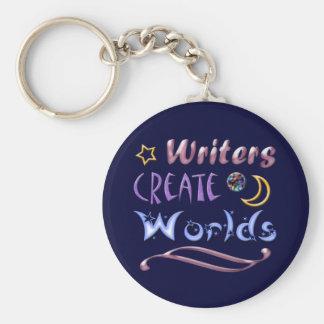 Writers Create Worlds Basic Round Button Keychain
