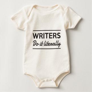 Writers Do it Literally Baby Bodysuit