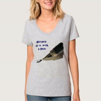 writers do it with a pen tee shirt