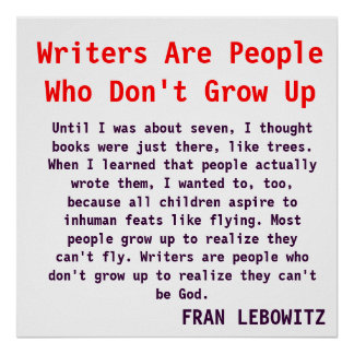 Writers Don't Grow Up Poster
