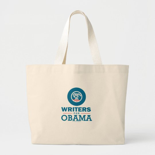 Writers for Obama Large Tote Bag