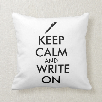 Writers Gifts Keep Calm and Write On Pen Custom