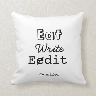 Writers Home Decor Funny Life Pillow Any Color
