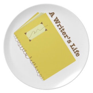 Writers Life Dinner Plates
