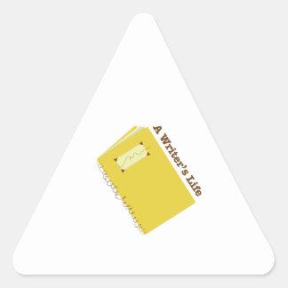 Writers Life Triangle Sticker