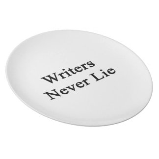 Writers Never Lie Plates