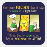 Writer's nightmare square sticker