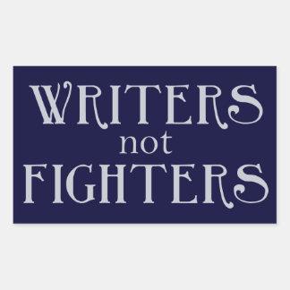 Writers not Fighters Rectangular Sticker