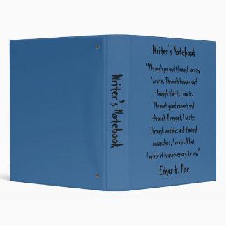 Writer's Notebook - Edgar Allan Poe Vinyl Binder