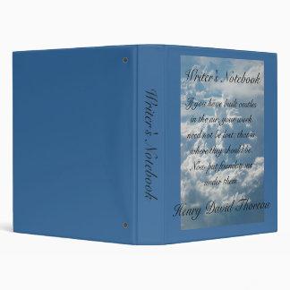 Writer's Notebook - Henry David Thoreau 3 Ring Binder