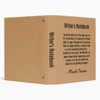 Writer's Notebook - Mark Twain Binder