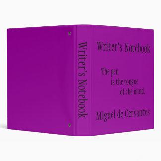Writer's Notebook - Miguel de Cervantes Binders
