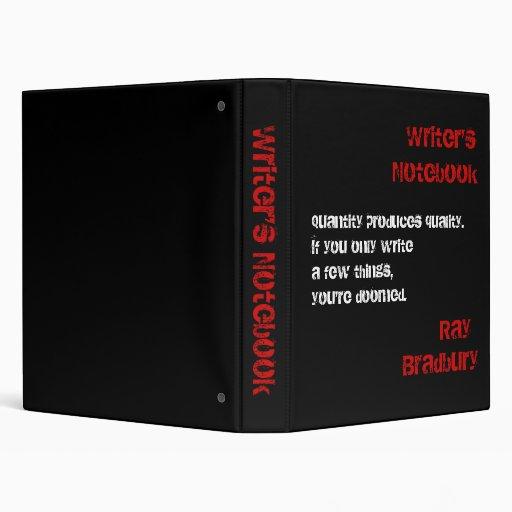 Writer's Notebook - Ray Bradbury Binders