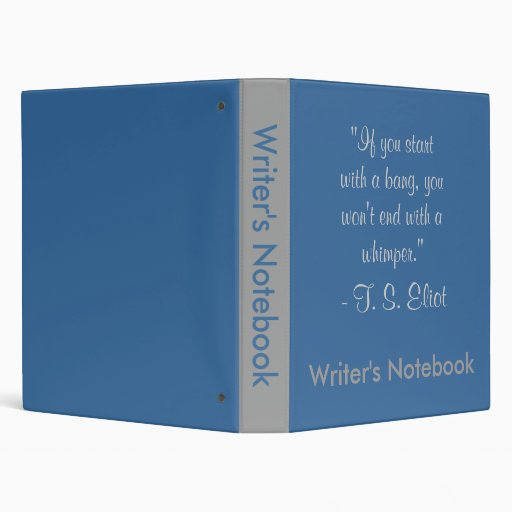 Writer's Notebook - T. S. Eliot Binder