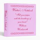 Writer's Notebook - William Wordsworth Binder