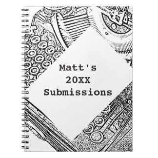 Writer's Personalized Submission Record Notebook