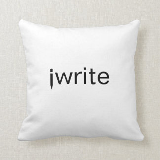 Writers Pillow Funny iwrite Add Your Color Custom