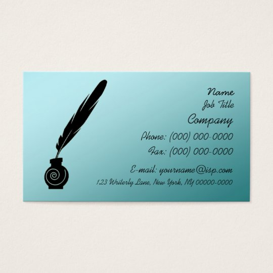 Writer's Quill & Ink Profile Card