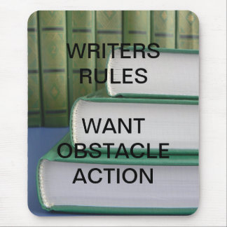 Writers rules mouse pad