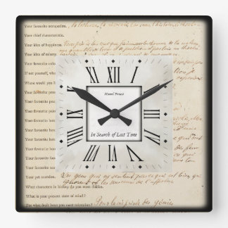 Writers Square Wall Clock