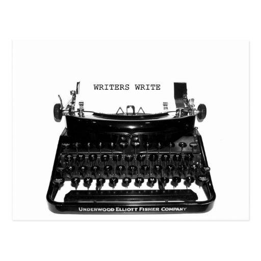 WRITERS WRITE POST CARD
