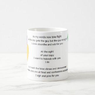 Writer's Writhing Wail mug zoomed