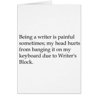 WritersBlock Card