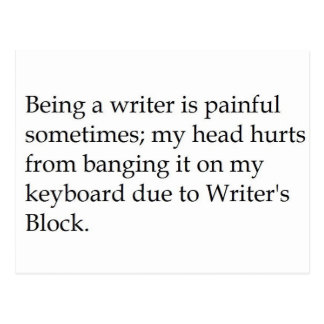 WritersBlock Postcard