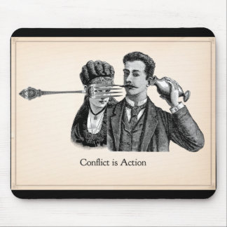 Writewell Academy Conflict Is Action Mousepad