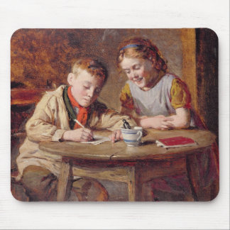 Writing a Letter (oil on panel) Mouse Pad